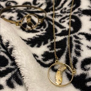 Jewelry - california gold bracelet and necklace set